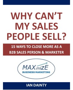 Why can't sales people sell