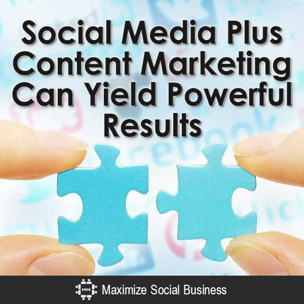 Social Media Plus Content Marketing Can Yield Powerful Results Content Marketing  Social-Media-Plus-Content-Marketing-Can-Yield-Powerful-Results-V3-copy