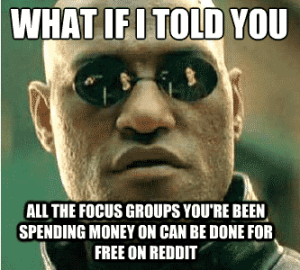 10 Reasons Why You Should Consider Maximizing Reddit for Business Reddit  morpheus-meme-300x270