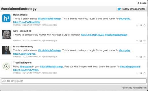 #socialmediastrategy hashcore screenshot