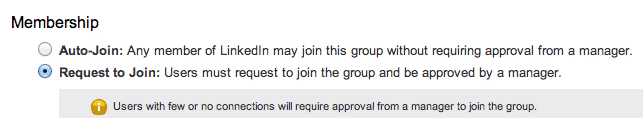 Screenshot of LinkedIn Groups Moderation Invites