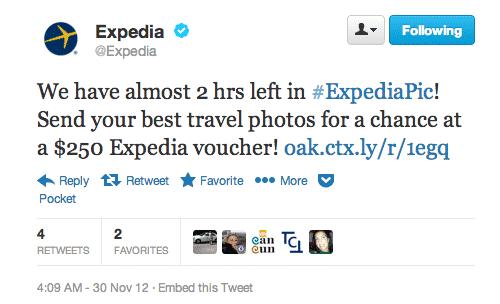 expedia twitter contest tweet