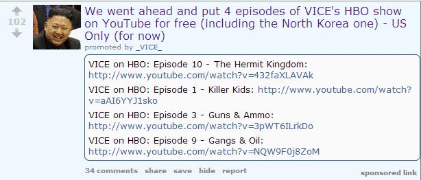 Vice reddit promo