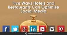 Five Ways Hotels and Restaurants Can Optimize Social Media