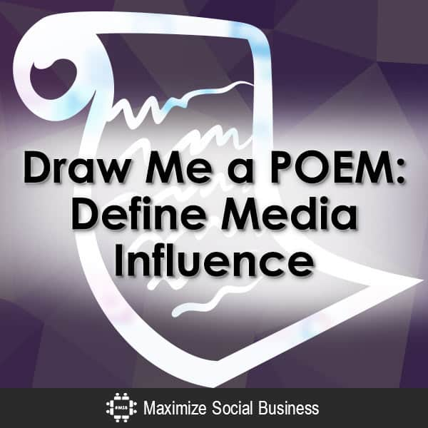 Draw Me a POEM: Define Social Media Influence