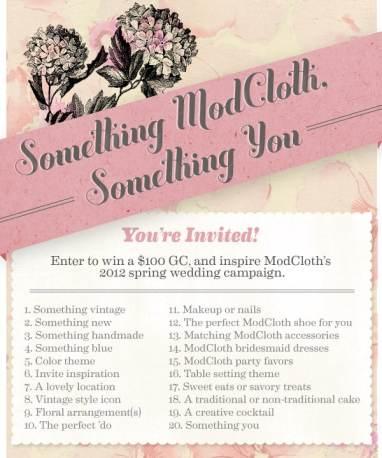 ModCloth Pinterest Contest