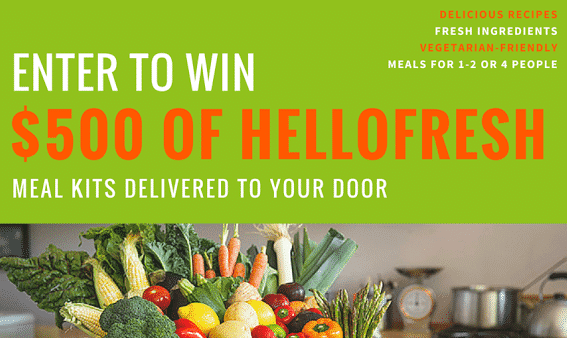 How To Use Giveaways To Market Your eCommerce Site Blogging  HelloFresh-Giveaway-FB-Post