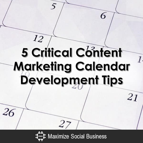 5 Ways to Develop your Content Marketing Calendar
