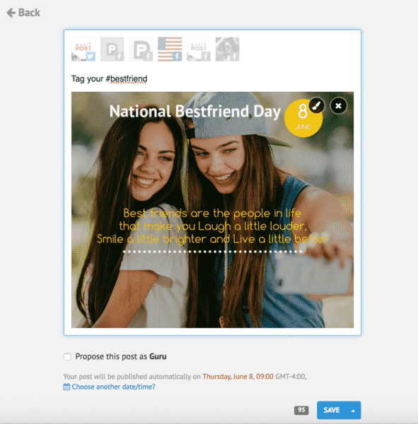 holiday posts for social media PromoSimple National Bestfriend Day June 8