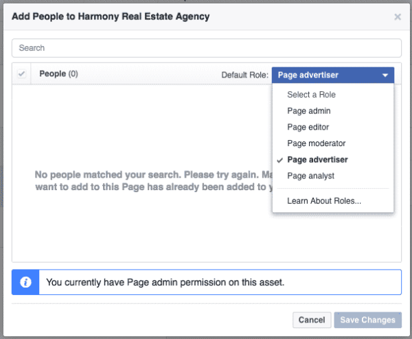 facebook business manager-page access