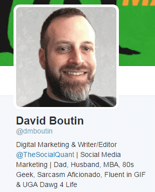 How to Optimize Your Twitter Profile Page – The Jab, Jab Right Hook Approach Twitter  david-boutin-bio