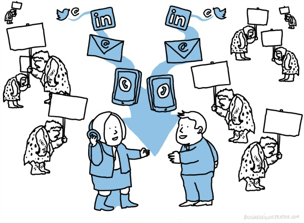 The Social Media Noise Has Become Deafening! Social Sales  sales-cartoon_modern-sales_600px