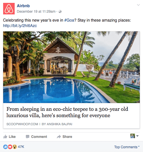 6 Amazing Facebook Pages To Get The Right Social Media Strategy Facebook  Airbnb-2
