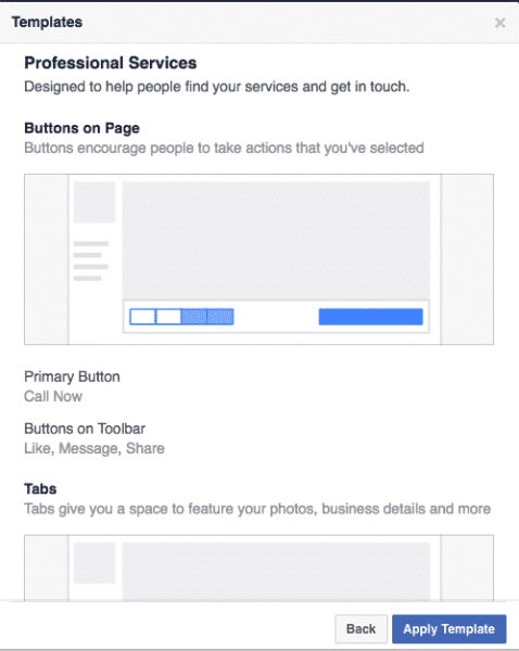 Select an Appropriate Template For Your Facebook Page