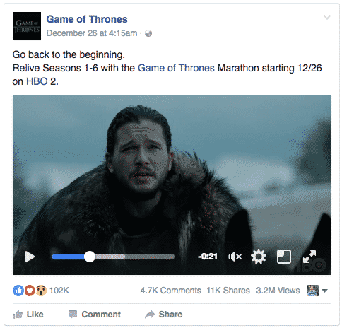 Game Of Thrones Facebook Page Keeps Their Audience Engaged