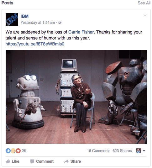 IBM Facebook Page Connect Well With The Younger Audience