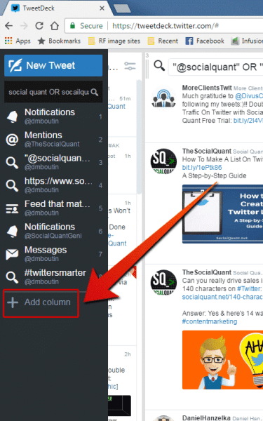 add column to tweetdeck