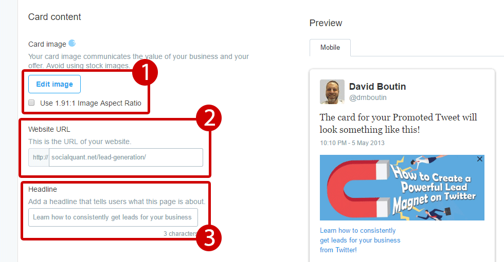 How to Send a Tweet with a Clickable Image Twitter  twitter-website-card-elements