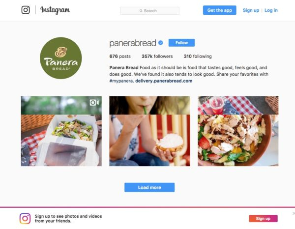 5 Ways Panera Bread Creates an Engaging Customer Experience - A Case Study Customer Experience Marketing  Instagram-Panera-Bread-2-600x466