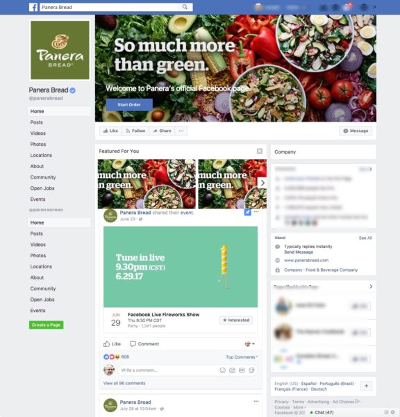 5 Ways Panera Bread Creates an Engaging Customer Experience - A Case Study Customer Experience Marketing  Panera-Bread-Facebook-576x600