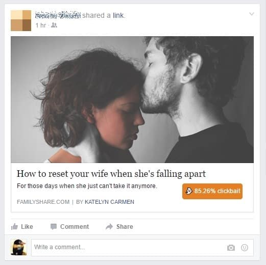 Facebook Clickbait - Emotional