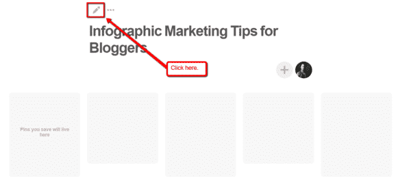 How to Use Infographics on Pinterest to Get More Website Traffic Infographics  Board_Settings-600x267