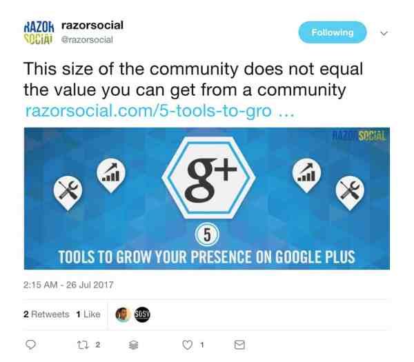 razorsocial tweet