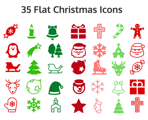 6 Holiday Card Design Tips For Social Media Infographics  Flat-Icons-600x488