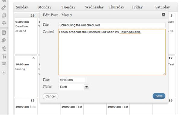 12 Free Tools For Creating an Effective Editorial Calendar Content Marketing  wordpress-calendar