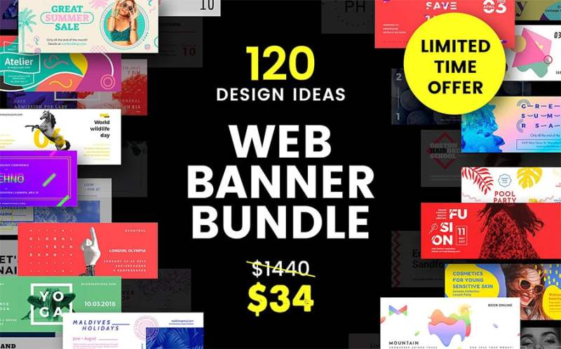 20+ Visual Design Resources for Efficient Marketing Campaigns Visual Social Media Marketing  behance-web-banner-bundle