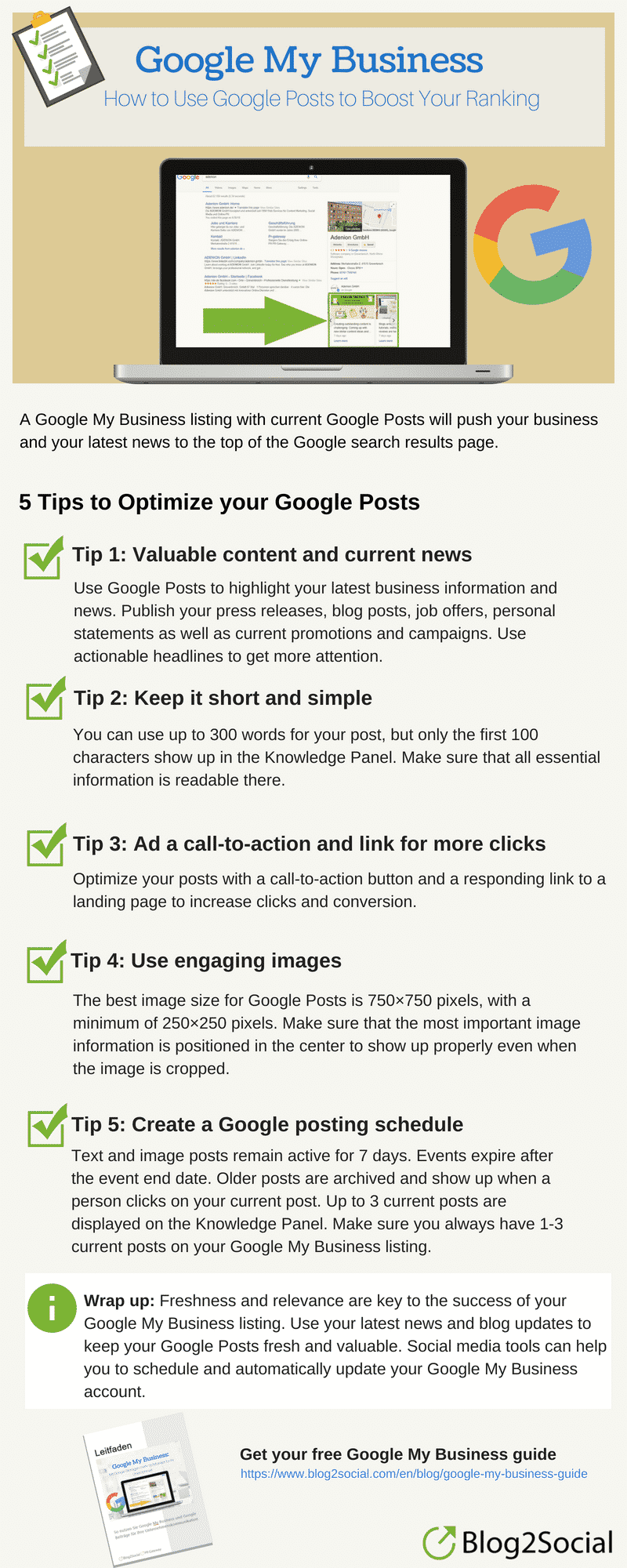 How to use Google My Business for Corporate Communication Corporate Communications  Infografik_Google-My-Business-Posts