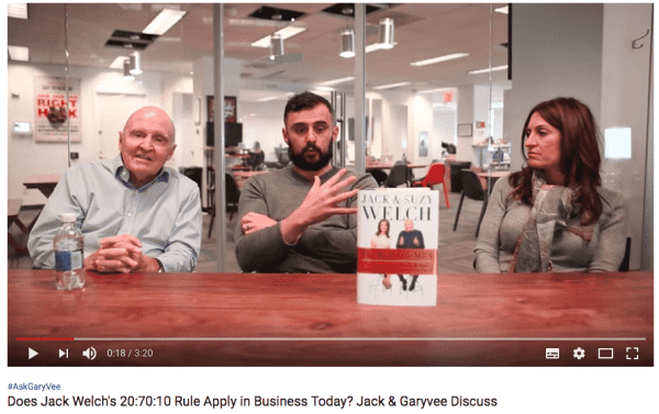 Jack Welch at the Gary Vee Show to Promote His Book