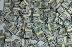 Pile of banded money