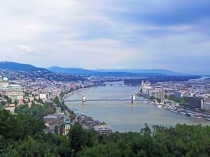 The Blue Danube, Budapest, Hungary.