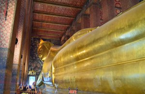 The Reclining Buddha.