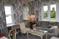 Sitting area of our corner room at Ashford Castle.