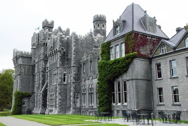 One part of the massive Ashford Castle in Ireland.