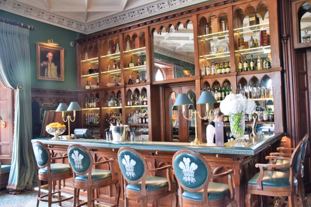 Part of the gorgeous bar at Ashford Castle.