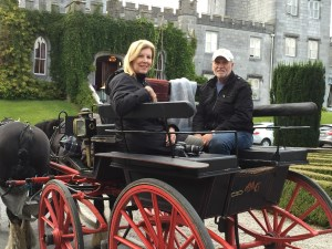 Carriage ride at Dromoland in Ireland.