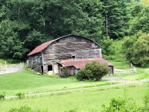 Historic Wild Barn with gambrel roof, Madison County, NC.