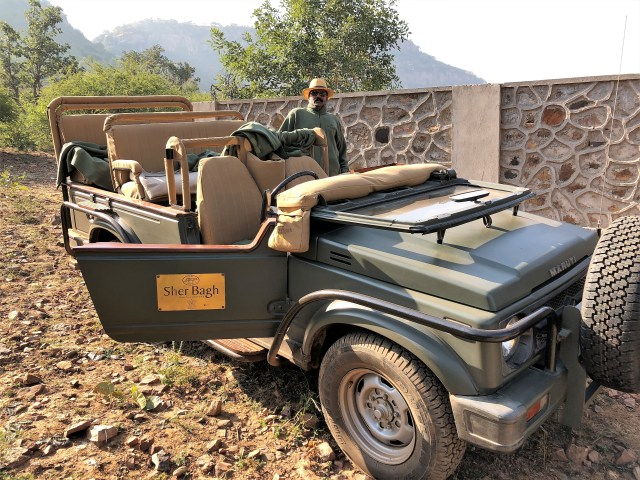 Ready to safari at Sher Bagh, Ranthambore National Park, India.
