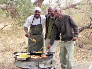 South African breakfast on safari.