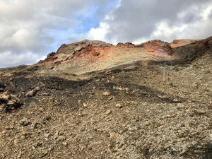 On the Lunar Route at Timanfaya National Park, Lanzerote, Canary Islands.