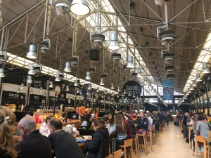 The TimeOut Food Hall in Lisbon's Mercado de Riberia.