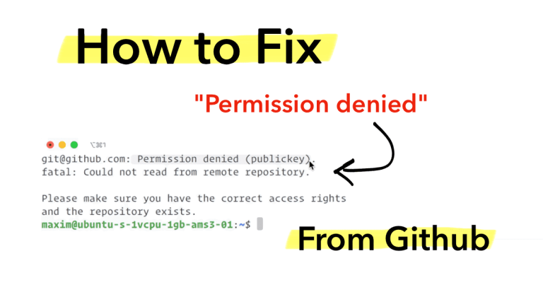 "Fix ""Permission Denied"" Error From Github"
