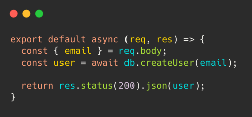Backend code