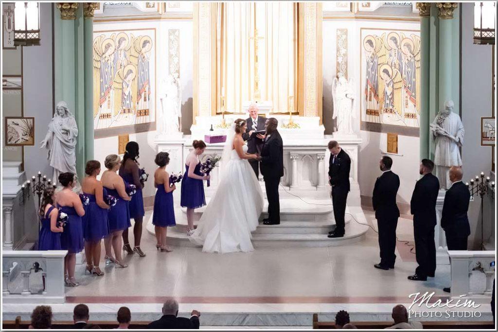 center cincinnati wedding st aloysius chapel molly and kevin