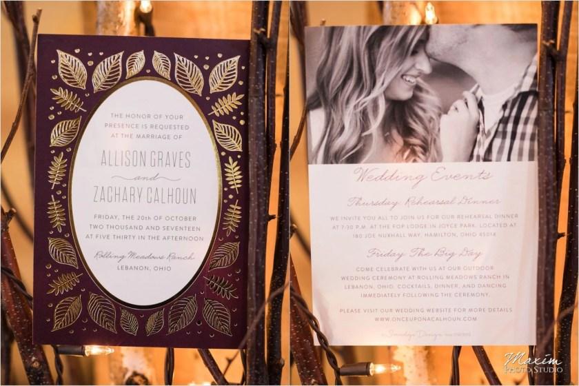 Rolling Meadows Ranch Lebanon Ohio Wedding Invitations Minted