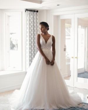 Tulle Lace Appliques Maxims Wedding Boho Simple Line A Lace