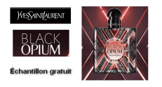 Échantillon gratuit Eau de Parfum Black Opium Pure Illusion Yves Saint Laurent